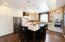 Open efficient gourmet kitchen.