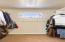 custom closet system and transom window