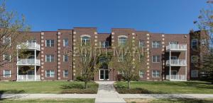 All-brick building exterior