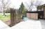 Fenced patio in front