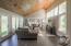 Gorgeous walnut ceilings, floor to ceiling windows and premium cork flooring