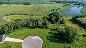 View of the beautiful wooded lot for sale in the Autumn View Addition in Hawley MN!
