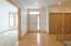 Large entry way with lots of storage!