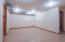 Hobby/storage room in basement.