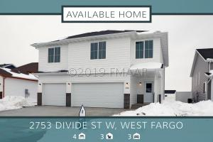 2753 DIVIDE Street W, West Fargo, ND 58078