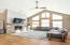 Engineered Hickory Hardwood Floors & 18 ft Vaulted Ceiling