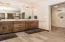 Heated Tile Floors, Double Sinks & Quartz Countertops