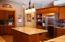 Beautiful kitchen with butler's pantry. Pocket doors offer extra privacy!