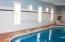 Beautiful indoor pool room with southwest facing windows!