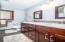 Updated Upper Bath / Tile Floor / Dual Vanity and Tile Bath Surround