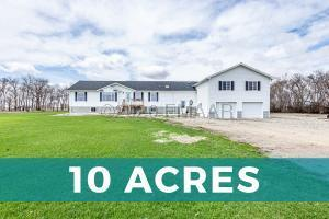 4-Stall Garage & 10 Acres!