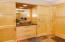 Built-in linen cabinets.