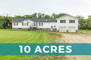 4-Stall Garage & 10 Acres!