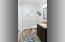 Half Bath on Upper Level with Large Closets for additional storage