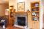 Gas Fireplace with Built-in bookshelves