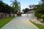 Long side driveway leading to the garage.