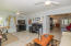 Pass Thru from Kitchen to Family room --Plantation shutters can separate family and living rooms
