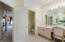 Master Bathroom with His and Her vanities and separate tub and shower.