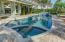 Pool with spa and fountains