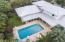 Aerial pool house view