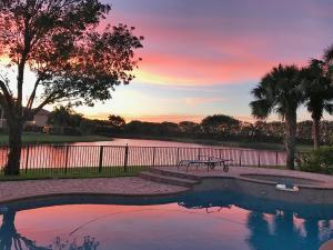 Beautiful sunset from outside