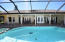 The covered pool area is 58 x 12 and has plenty of room for dining and entertaining.