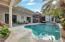 Beautiful freeform pool with spa and spacious covered patio