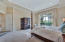 Master bedroom with golf views but lots of privacy.