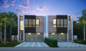 Stunning Coastal Contemporary town homes located one block from the beach!
