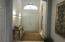 Wide entry and hallway...