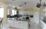 Granite Counter Tops, 80/20 Sink, Center Island, Flat Top Range, Desk Area