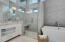 Digital Interface Shower Controls. Hidden Hair Dryer/Curling Iron Station w/Power. Hidden Hair Dryer/Curling Iron Station w/Power
