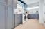 Spectacular Laundry Room w/Basin, Quartzite Counters, Abundant Storage, Hi Tech Digital Washer Dryer