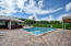 Private paved pool with poolhouse