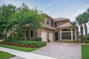 Beautiful stone accents cover the front of this home.