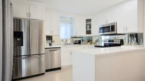 Beautiful upgraded kitchen with stainless steel appliances.
