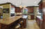 Granite counters with eat-in area