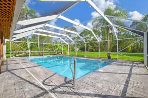 Large screened patio and pool!