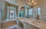 Master bathroom with oversized shower.