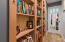 French pocket door leading to laundry room/ office