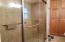 Double Glass Shower with Custom Tile