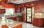 Gourmet Updated Cherry Wood kitchen with Granite and Stainless Steel appliances.
