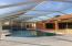 38x15 ft pool with spa flowing into 3ft shallow area.