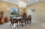 Formal Dining room with gorgeous chandelier