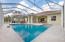 Screened Pool French Pattern Travertine