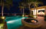 Spa, outdoor bar and infinity pool