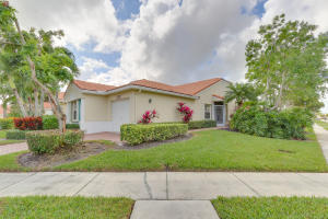 This end-unit is situated on an expansive corner lot.