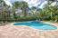 Freeform heated salt water pool and spa