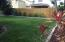 Well manicured lawn with room to play