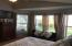Master Bedroom with bay window, allows great light in the room and great view of back yard